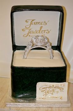 Engagement ring  Cake by Chuchik