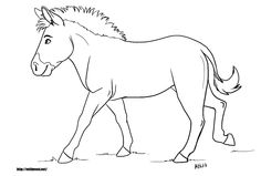 Zebra Without Stripes zebra coloring page without