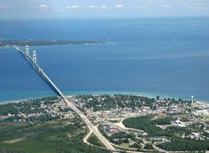 The Mackinac bridge connects lower Michigan to the upper peninsula. This bridge is HUGE!