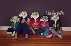 Gina Rae Miller Photography Christmas Crafts-Elf Masks