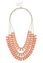 coral layered teardr