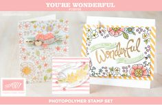 New Stampin Up Photopolymer Set: You're Wonderful