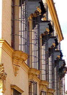 Ventanales de la casa-palacio Domecq en Jerez de la Frontera (Cádiz)