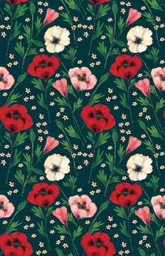 Floral pattern by Phoebe Wahl