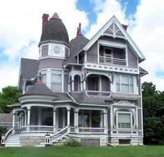 stairway, color, queen, barber, paint, curv, dream houses, front porches, victorian houses