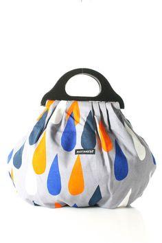 NWT MARIMEKKO Multi-Color Canvas Geometric Print Satchel Handbag