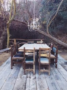 Rustic outdoor dining room.