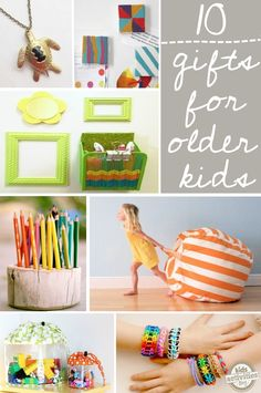10 DIY Gift Ideas for Older Kids - @Holly Homer love, love, love these! everyone should check 'em out!