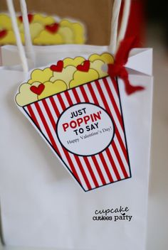 POPCORN LOVE Valentine Cut-outs DIY Card- Digital Valentine Crafts
