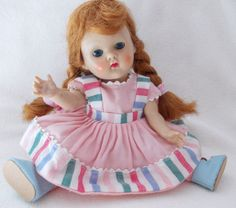 "Vogue Strung Ginny Doll  Original Carrot Red Wig/ Fever Cheeks ""Hope"" #27 1952  #Dolls"