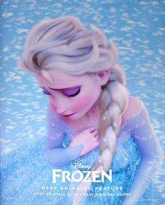 Disney's Frozen Oscar ad starring Elsa.
