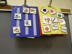 Use Chopping boards as the base for choice boards - much sturdier than laminate, wipes clean, etc
