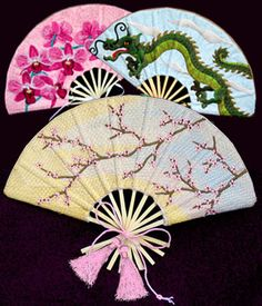 Embroidered Fans