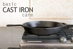 Cleaning cast iron isn't as hard as you might think!