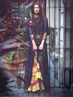 Bohemian gypsy, Mexican peasant a la Frida