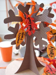holiday, halloween parties, craft, thanksgiving tree, fall