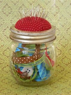 Pincushion Jar Tutorial by Little Paper Dog