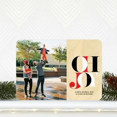 Dynamic Declaration - #Holiday Photo Cards feature black, red and white font.