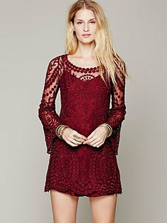 Free People Commemorative Bell Sleeve Dress