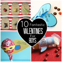 10 Fantastic Valentines for Boys (or an 8 year old girl named Lacey!)