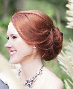 Meravigliosa acconciatura sposa capelli rossi, elegante e fine http://www.matrimonio.it/collezioni/acconciatura/