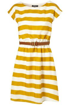 stripe dress for spring.