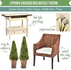 Spring Garden Breakfast Room Inspiration Board #MyKirklands