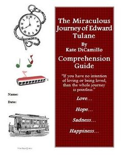One of the best books ever according to H - FREEBIE 3rd-7th  Grade.  Reading Comprehension Guide, Activities, Worksheets, Projects, Rubrics and Answer key for The Miraculous Journey of Edward Tulane.Reading Common ...