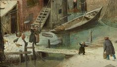 1609 Hendrick Avercamp   ... ( Hendrick Avercamp , Paisaje de invierno con patinadores, h.1609