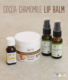 Cocoa, chamomile, honey and more combine to create this kiss-inspiring, homemade lip balm. #diy