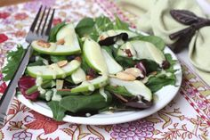 Barefeet In The Kitchen: Carver's Salad with Honey Cider Dressing