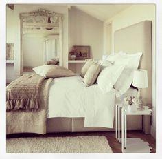 Cosy bedroom in cream