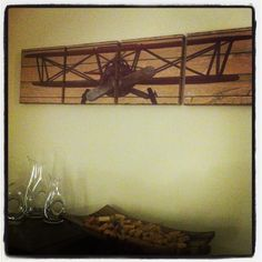 Biplane Canvas Airplane Art - this would fit perfect - wish I were a better artist