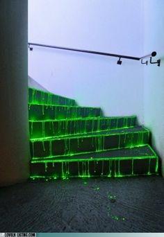 glow stick stairs
