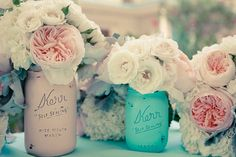 Mason jars are popular with vintage-themed weddings, but these Painted Mason Jars will definitely make centerpieces pop. $28 for a set of 4 from BeachBlues