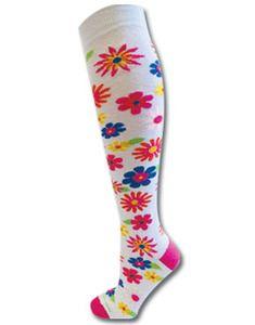 multiflow sock, flower power