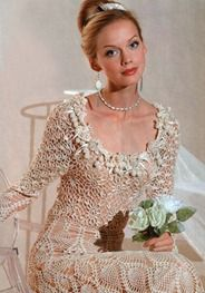 crochet wedding dress  (could also be a stunning evening gown)