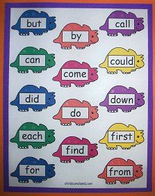 Dinosaur sight words and more.  Highly adaptable