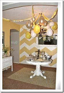 Love the chevron wall.  Same color as other wall
