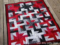 Easy pattern for beginners and makes a beautiful lap quilt!