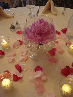 Peony Wedding Centerpieces   Floating Pink Peony Wedding Reception Centerpiece   Flickr - Photo ...