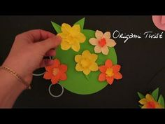 "▶ Daffodils - Paper Flower Tutorial Series 1 of ? (for ""Daffodil Day"") - YouTube"