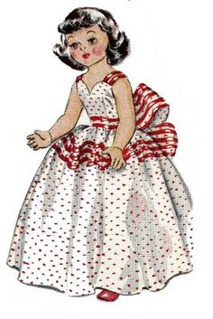 McCall's 1646 Doll Clothes pattern for 14 inch Toni or Sweet Sue by Idea. A 1940s pattern.