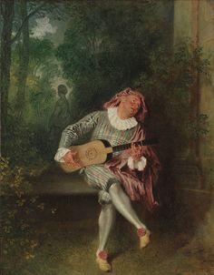 """""""Mezzetin,"""" Jean Antoine Watteau"""