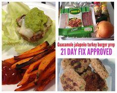 Guacamole (or Avocado) Turkey Burgers 21 Day Fix Meal Plan