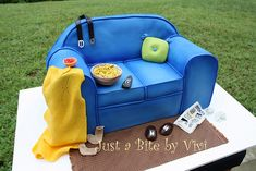 Cute idea for Father's Day cake or Retirement Party. couch cake, father day, couch potato, potato cakes, father's day cakes, retirement parties, couches, 3d cakes, boyfriends