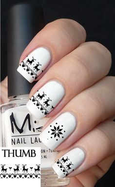 black christmas sweater nail decal