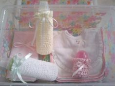 Covers for Baby bottles and Baby Bibs Facebook: crochetwithlove