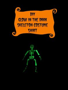 Easy glow in the dark skeleton costume shirt #diy #crafts #Halloween #ducktape
