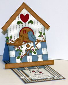 easels, card idea, easel cards, new homes, new home cards, new handmade cards, birdhous die, paper crafts, birdhous card